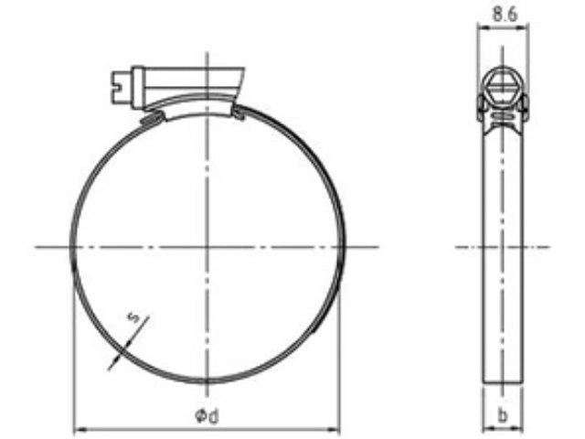 IDEAL SMALL Schlauchschellen nach DIN 3017-1