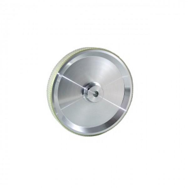Messrad 12 Zoll mit Polyurethan-geriffelt - Bohrung 10mm H7