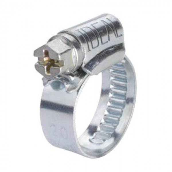 Schlauchschelle mit 016 - 027 mm Spannbereich, 9 mm Bandbreite, W2, DIN 3017-1